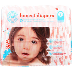 The Honest Company Diapers - Giraffes - Size 5 - Children 27 Plus Lbs - 25 Count - 1 Each