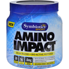 Symbiotics Sport Amino Impact - Bcaa Blend And Bio-active Peptides - 10.6 Oz