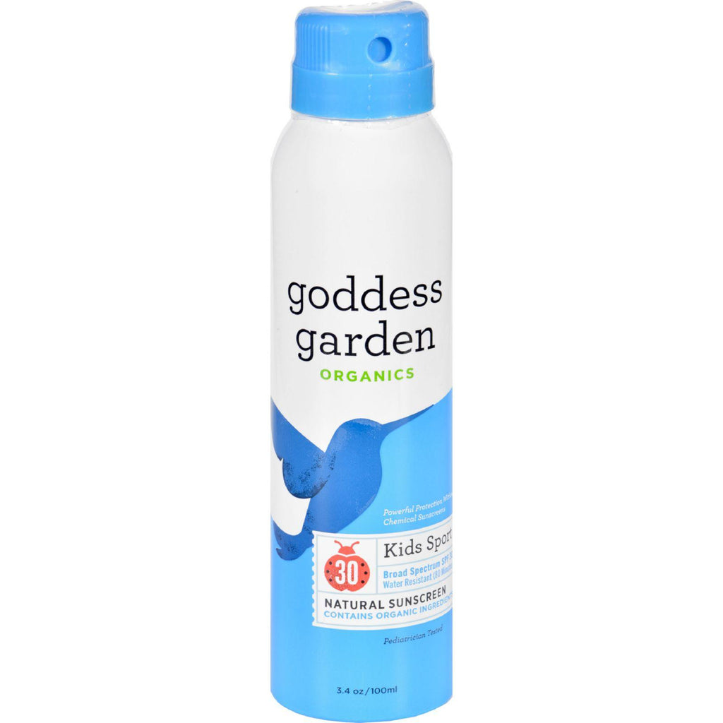 Goddess Garden Sunscreen - Natural - Kids - Spf 30 - Continuous Spray - 3.4 Oz