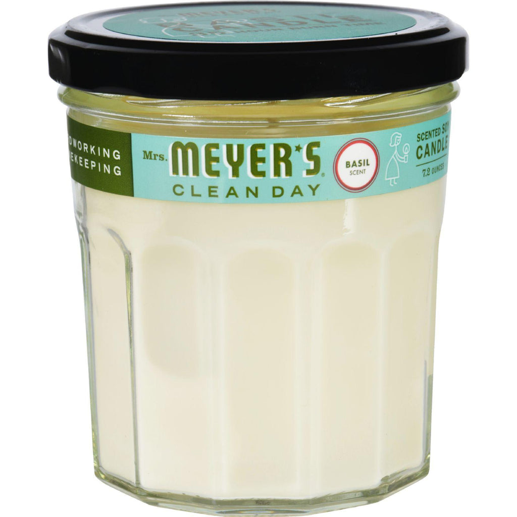 Mrs. Meyer's Soy Candle - Basil - 7.2 Oz