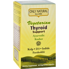Only Natural Thyroid Support - Vegetarian - 60 Vegetarian Capsules