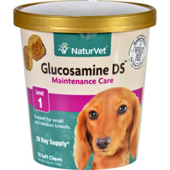 Naturvet Glucosamine - Ds - Level 1 - Dogs And Cats - Cup - 70 Soft Chews