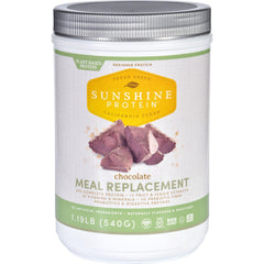 Sunshine Protein Meal Replacement - Plant-based - Chocolate - 1.19 Lb