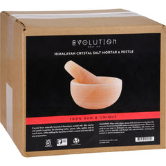 Evolution Salt Mortar And Pestle Crystal Salt Set - Himalayan - 1 Count