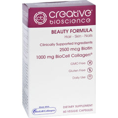 Creative Bioscience Beauty Formula - 60 Vegetarian Capsules