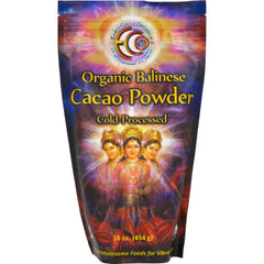 Earth Circle Organics Cacao Powder - Organic - Verified - Balinese Raw - 16 Oz