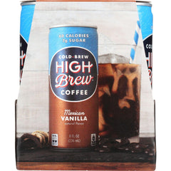 High Brew Coffee Coffee - Ready To Drink - Mexican Vanilla - 4-8 Oz - Case Of 6
