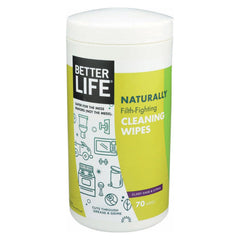 Better Life Cleaning Wipes - Naturally Filth - Fighting - Case Of 6 - 70 Count