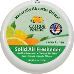 Citrus Magic Air Freshener - Odor Absorbing - Solid - Fresh Citrus - 8 Oz