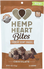 Manitoba Harvest Hemp Heart Bites - Chocolate - 4 Oz - Case Of 12