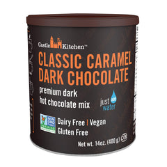 Castle Kitchen Foods Hot Chocolate - Classic Caramel Dark Chocolate - Case Of 6 - 14 Oz