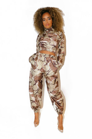 CAMO FLIGHT TRACKSUIT BEIGE - VOLITION
