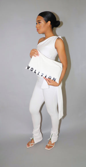 VOLITION CLUTCH LEATHER OFF WHITE - VOLITION