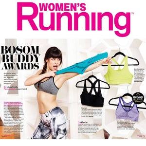 Zensah Racey Sports Bra wins Bosom buddy awards from Women's Running
