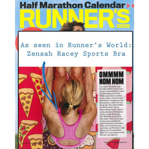Zensah Racey Sports Bra featured in Runner's World