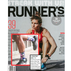 Zensah Limited Edition Floral Socks featured in Runner's World