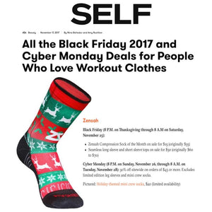 Zensah Limited Edition Christmas Socks featured in Self Magazine