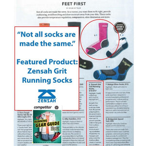 Zensah Grit Running Socks featured in Competitor
