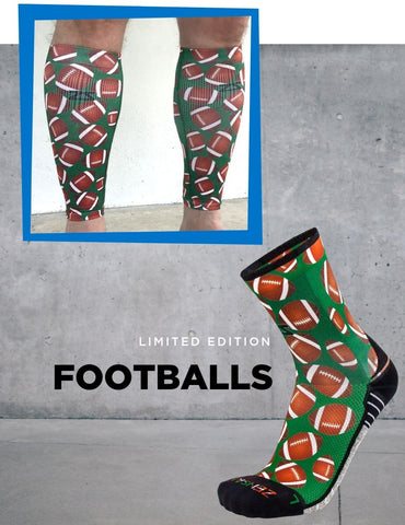 Zensah Limited Edition Football Print Socks