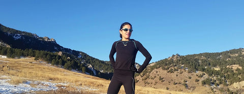 athlete lizi bolanos wearing black zensah long sleeve shirt