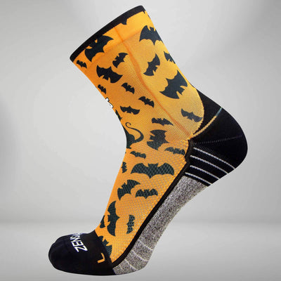 Cats and Bats Halloween Socks (Mini Crew)