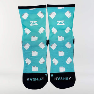 Toilet Paper Rolls Running Socks (Mini-Crew)Socks - Zensah
