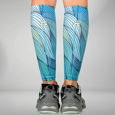 Abstract Waves Compression Leg Sleeves
