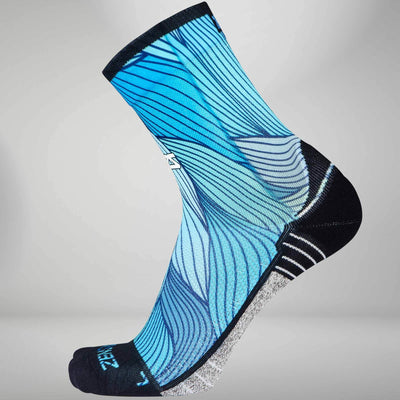 Abstract Waves Socks (Mini Crew)