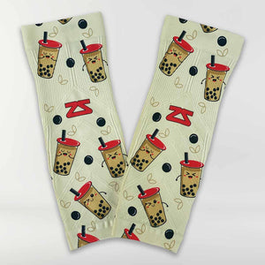 Bubble Tea Compression Leg Sleeves