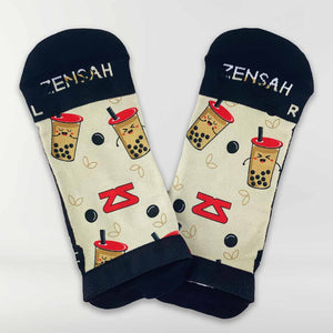 Bubble Tea Running Socks (No Show)