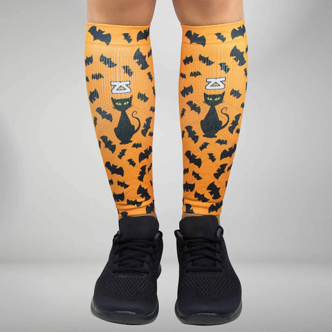 Cats and Bats Halloween Compression Leg Sleeves