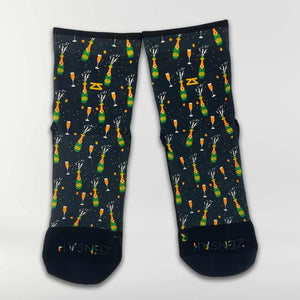 Champagne Bottles Socks (Mini-Crew)
