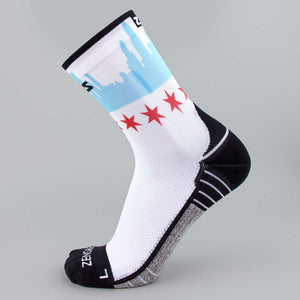 Chicago Flag Skyline Socks (Mini-Crew)