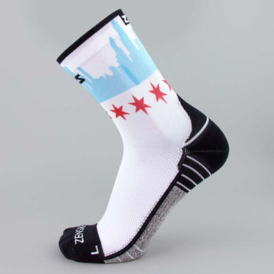 Chicago Flag Skyline Socks (Mini-Crew)Socks - Zensah