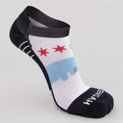 Chicago Flag Skyline Socks (No Show)