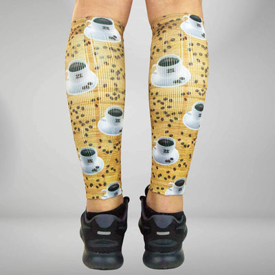Coffee Compression Leg Sleeves