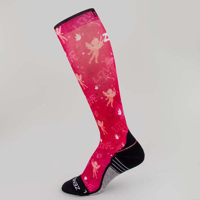 Cupid Doodle Valentine's Compression Socks (Knee-High)Socks - Zensah