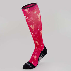 Cupid Doodle Valentine's Compression Socks (Knee-High)