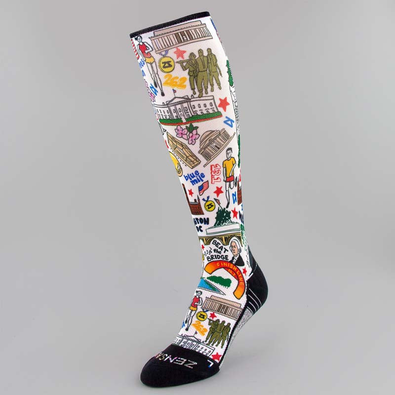 DC Doodle Compression Socks (Knee-High)