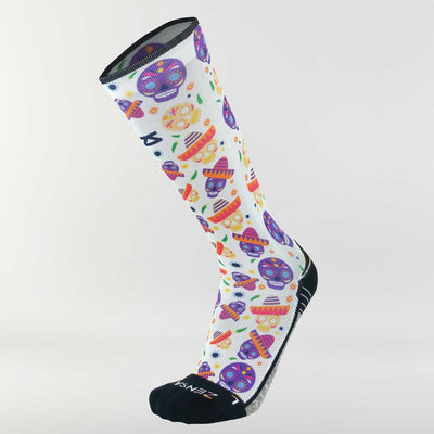 Day of the Dead Doodle Compression Socks (Knee-High)Socks - Zensah