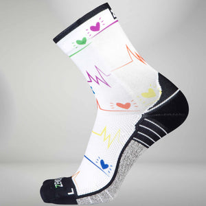 EKG Running Socks (Mini Crew)