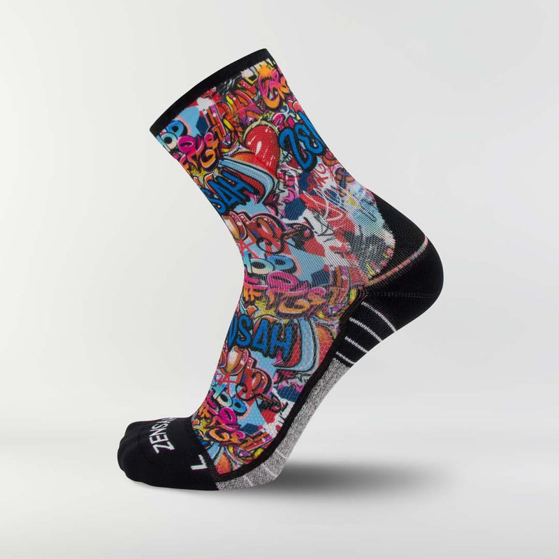 Street Art Socks (Mini-Crew)
