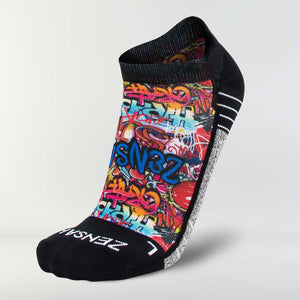 Street Art Running Socks (No Show)