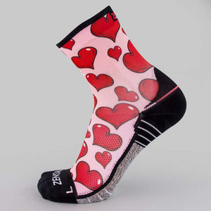 Pink Hearts Valentine's Socks (Mini Crew)Socks - Zensah