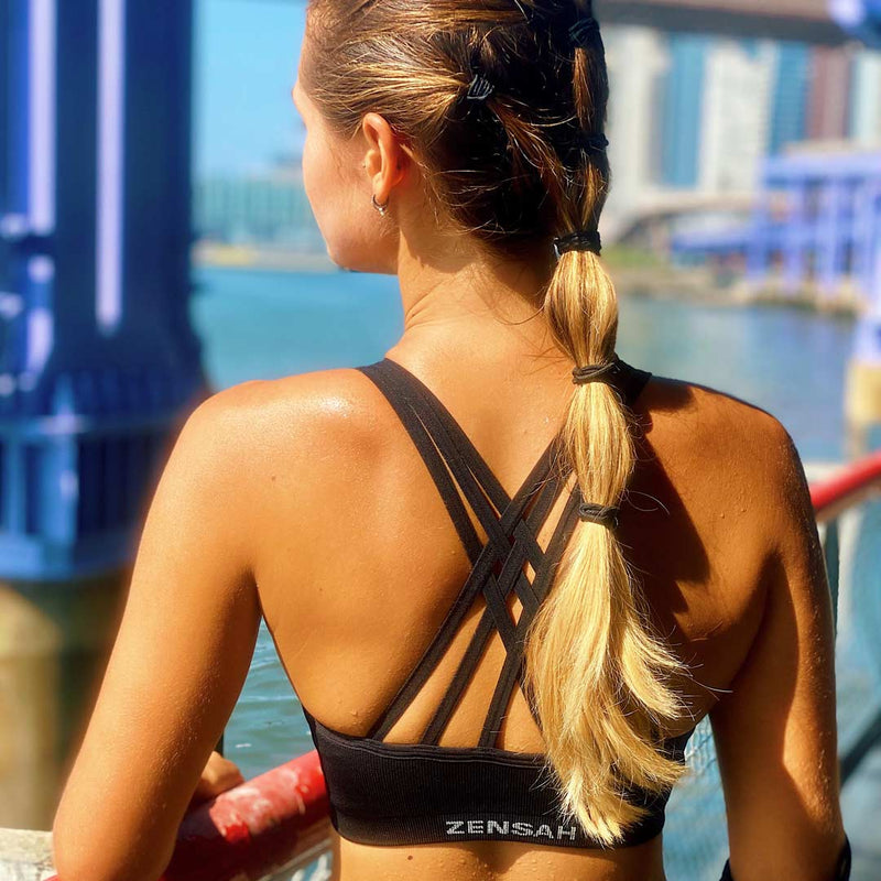 High Neck Sports Bra