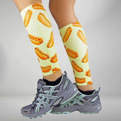 Hot Dog Compression Leg Sleeves