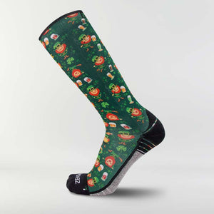 Happy Leprechauns Compression Socks (Knee-High)