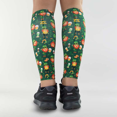 Happy Leprechauns Compression Leg SleeveCompression Sleeves - Zensah