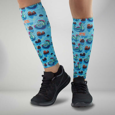 Loch Ness Monsters Compression Leg SleevesCompression Sleeves - Zensah