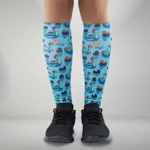 Loch Ness Monsters Compression Leg Sleeves